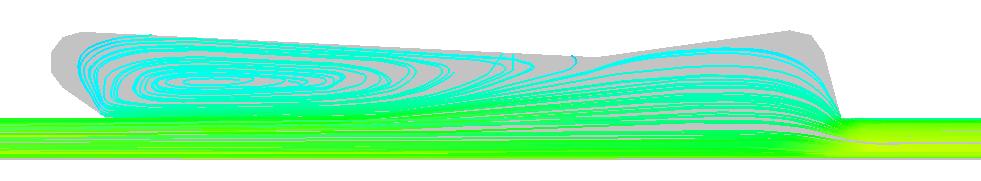 Pentagonal groove flow example