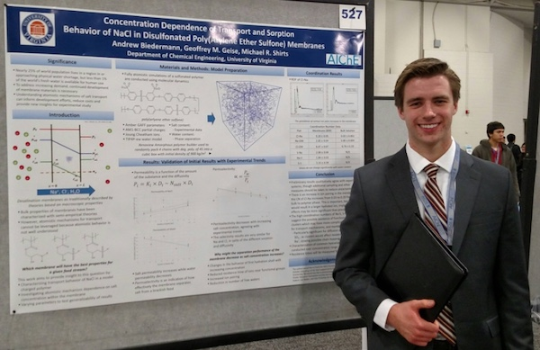 UVA Student Presenting Research