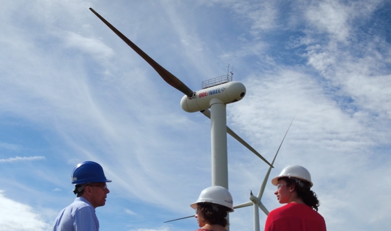 Two-blade wind turbine
