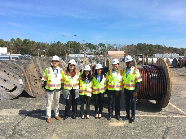 UVA Engineering students at an externship with Dominion Energy