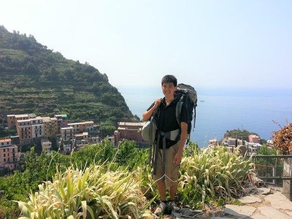 UVA alum Hanbin Cho backpacking