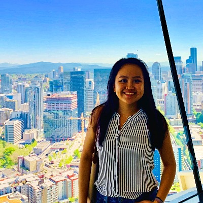 UVA alumna Jessica Lin at Seattle Space Needle