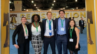 Class of 2019 REU students who presented their research at the annual meeting of the National Biomedical Engineering Society.