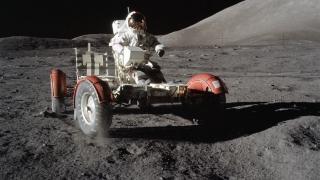 Astronaut Eugene Cernan op