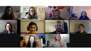 2020-style group photo: a screenshot of our zoom group meeting