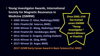 MRI Student Awards Since 2010
