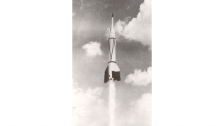 First manmade rocket to leave the atmosphere and reach hypersonic speeds on reentry.