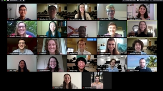Civil engineering graduating class Zoom screenshot