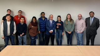 National Transportation Safety Board chair Robert L. Sumwalt guest lectured in engineering systems and environment professor Venkataraman Lakshmi's Forefronts of Civil Engineering graduate-level course on Jan. 30, 2020.