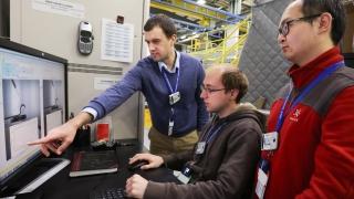 Gary Koenig, Ziyang Nie and colleague at Oak Ridge National Laboratory
