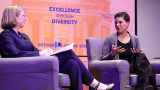 Still shot of Michelle Alexander