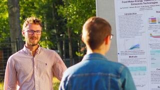 Jay Fuhrman, UVA Ph.D. student at research symposium
