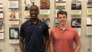 UVA chemical engineering alumni Kevin Bahati (left) and Chris Holland