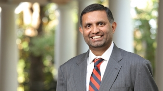 UVA professor of engineering, systems and environment Venkataraman Lakshmi portrait