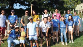Student group photo taken from Lorna Sundberg center 2019-2020 annual report