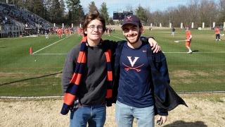Mark Bannon at UVA lacrosse game