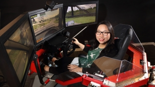 Professor Lu Feng, Driving Simulator