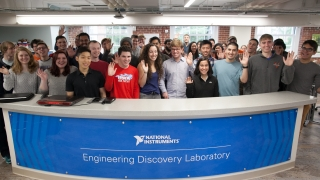 Group photo of National Instruments Lab Opening 2017