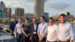 Giorgio Carta and his graduate students in Baltimore during the 2019 PREP Symposium