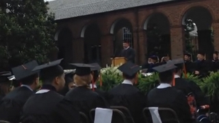 AMp graduate James Allison speaks at the 2016 systems engineering diploma ceremony