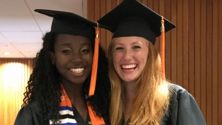 University of Virginia chemical engineering students after receiving their diplomas in May 2018