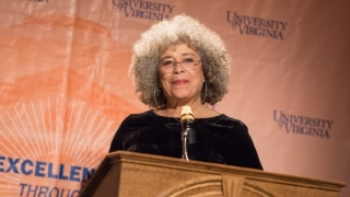 Still shot of Angela Davis