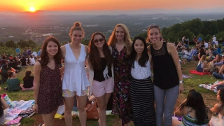 We love watching the sunset over Cville from Carter's Mountain in the summer
