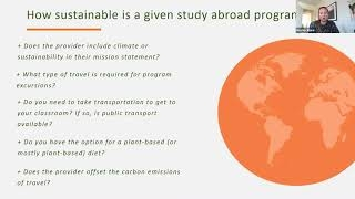 Sustainability and Education Abroad