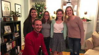 Group picture at the holiday party