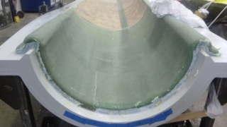 Eric Loth research: cross section of turbine blade